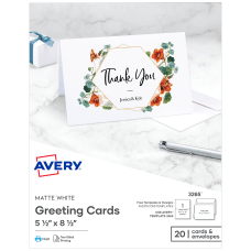 Avery Half Fold Cards Perforated 5