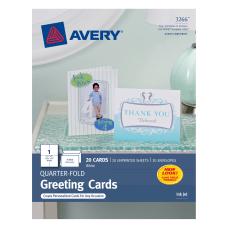 Avery Quarter Fold Greeting Cards 4
