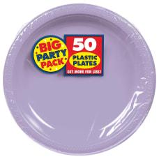 Amscan Round Plastic Plates 10 12