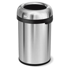 simplehuman Bullet Round Metal Open Trash