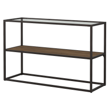 Bush Furniture Anthropology Glass Top Console