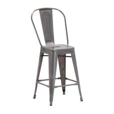 Zuo Modern Elio Counter Chairs Gunmetal