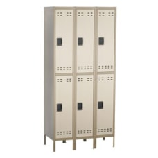 Safco Storage Lockers Double Tier Bank