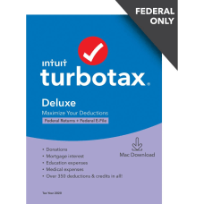 TurboTax Desktop Deluxe 2020 Federal Only
