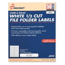 SKILCRAFT 13 Cut White Permanent InkjetLaser