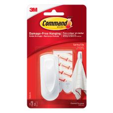 3M Command Spring Clip White