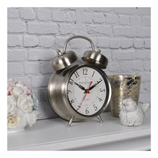 FirsTime Co Twin Bell Tabletop Clock
