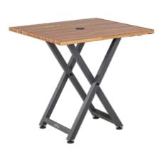 Vari Standing Meeting Table Butcher Block