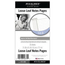 AT A GLANCE Day Runner Notes
