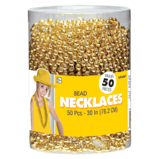 Amscan Bead Necklaces 30 Gold Pack