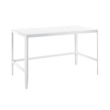 Lumisource PIA Glass Top DeskTable White