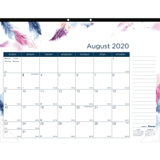 Blueline BOHO Academic Monthly Desk Pad