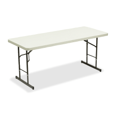 Iceberg Adjustable Folding Table Platinum