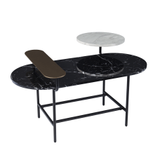 SEI Arcklid Faux Marble Cocktail Table