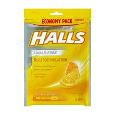 Halls Sugar Free Honey Lemon Cough