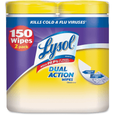 Lysol Dual Action Cleaning Wipes Wipe
