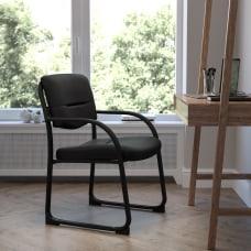 Flash Furniture Fabric Sled Base Side
