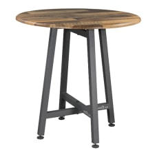 VARIDESK QuickPro RoundTop Meeting Table Reclaimed
