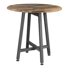 Vari Standing Round Table Reclaimed Wood