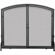UniFlame Single Panel Black Wrought Iron