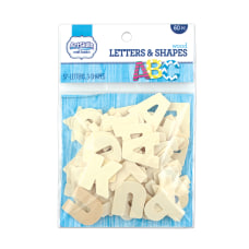 Artskills Wood Letters Tan Pack Of