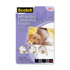 3M Self Sealing Photo Laminating Sheets
