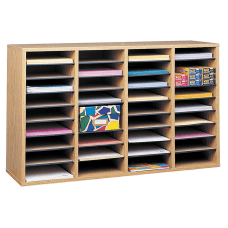 Safco Adjustable Wood Literature Organizer 24
