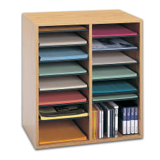 Safco Adjustable Wood Literature Organizer 20