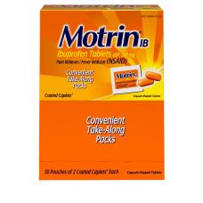 Motrin IB Ibuprofen 200mg Tablets for