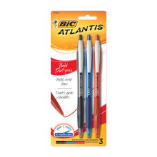 BIC Atlantis Bold Retractable Ballpoint Pens
