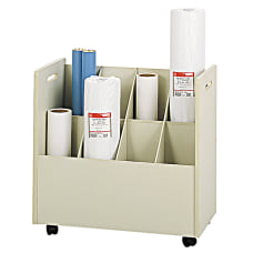 Safco Mobile Roll File 8 Compartments