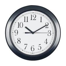 Round 8 12 Wall Clock Black
