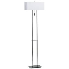 Kenroy Emilio Floor Lamp ChromeWhite
