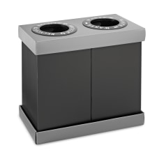 Alpine 2 Compartment Indoor Trash Bin