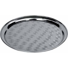 Winco Stainless Steel Round Serving Tray
