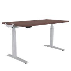 Levado Height Adjustable Desk Mahogany 60