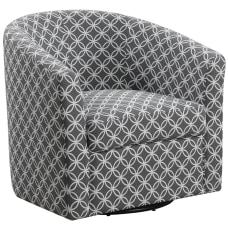 Monarch Specialties Swivel Club Chair GrayBlack