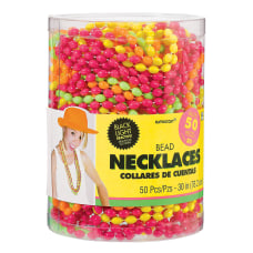 Amscan Bead Necklaces 30 Assorted Neon