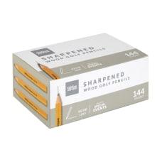 Office Depot Brand Golf Pencils Presharpened