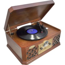 Pyle PTCD4BT RecordCDCassette Turntable Belt Drive