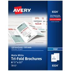 Avery Inkjet Trifold Matte Brochures Letter