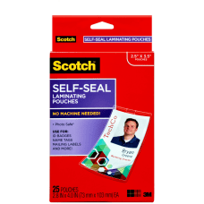 3M Scotch Self Laminating Pouches For