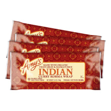 Amys Indian Curry Korma Wraps 55
