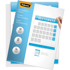 Fellowes Self Adhesive Laminating Sheets Letter
