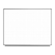 Luxor Ghost Grid Magnetic Dry Erase