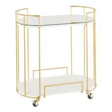 LumiSource Canary Contemporary 2 Shelf Cart