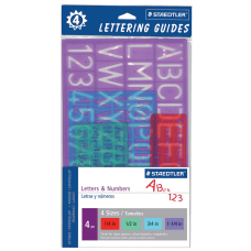 Staedtler Lettering Guides Pack Of 4