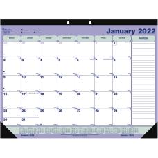 Blueline Monthly Desk Pad 16 x