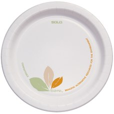 Solo Bare Heavyweight Paper Plates Perfect