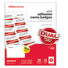 Office Depot Brand Name Badge Labels